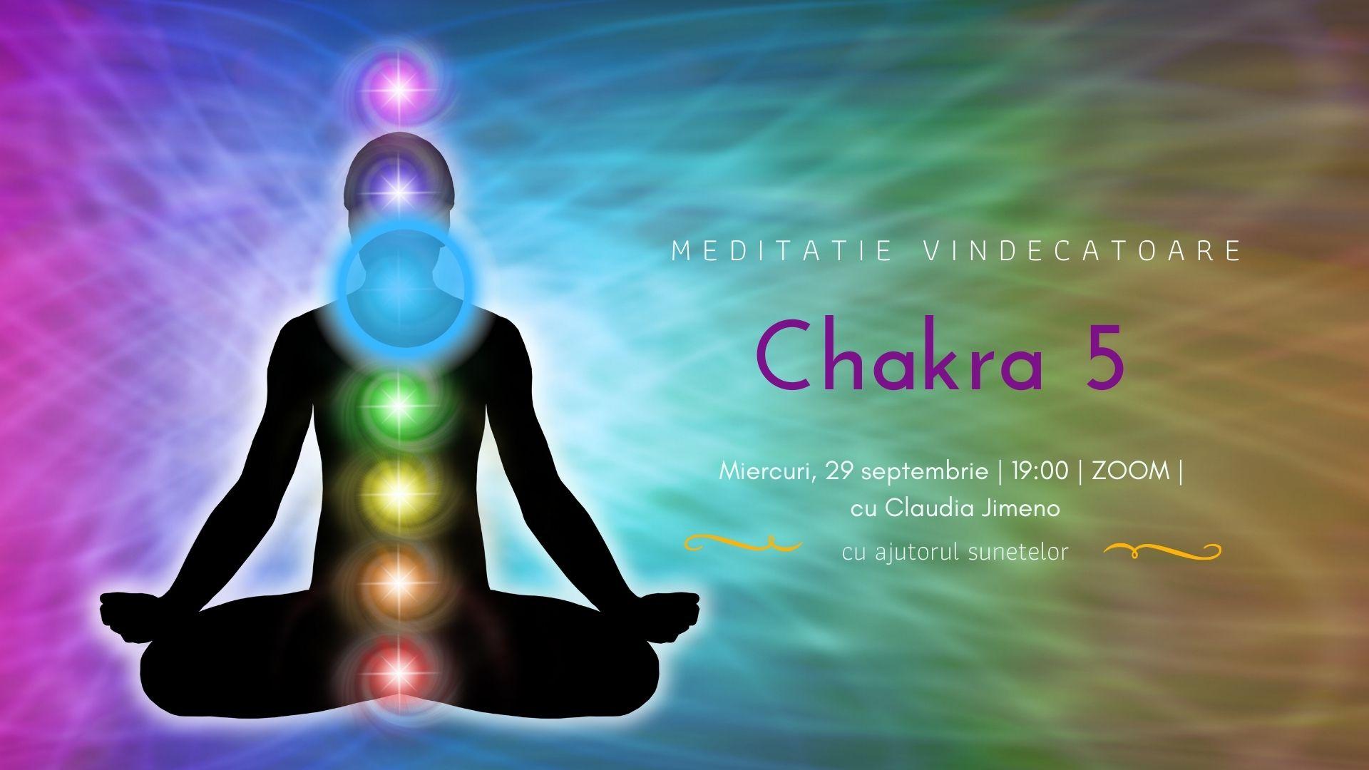 Meditatie cu sunete chakra 5 cu Claudia Jimeno