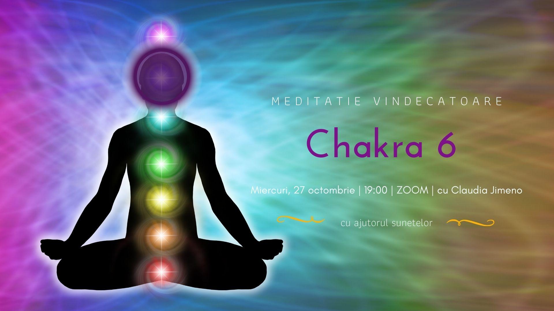 Meditatie cu sunete chakra 6 cu Claudia Jimeno
