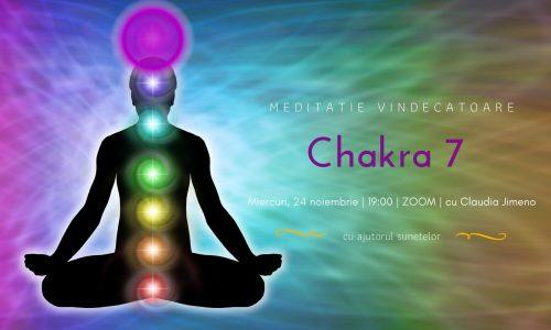 Meditatie cu sunete chakra 7 cu Claudia Jimeno