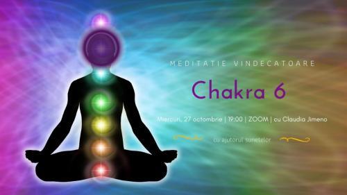 Meditatie cu sunete chakra 6 cu Claudia Jimeno | 24 octombrie